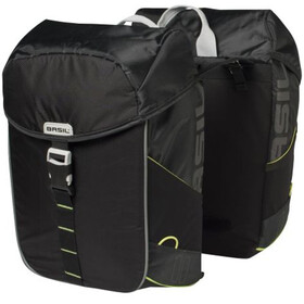 Basil Miles Gepäckträger Doppel-Tasche 32l black lime